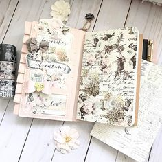 #Repost @bonariveratran ・・・ Here's my April @myprimaplanner feature.... beautiful notebooks. Love the Floral & Script #599881 and Old Letters #599911. They both look so pretty in my Sophie PTJ. Have a wonderful weekend! #myprimaplanner #travelersnotebook #notebook #primamarketinginc #primatravelerjournal