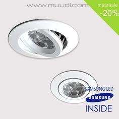 LED Spotti 4W SAMSUNG LED. Himmennettävä LämminValkoinen 3000K