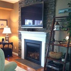 someday?...Redo fireplace with stone