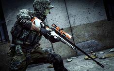 Download wallpapers Asiimov Sniper, 4k, soldier, Battlefield 4