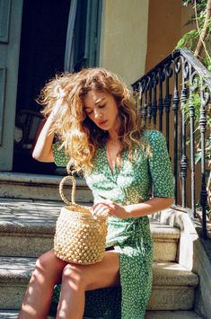 robe gabin & panier seau | rouje paris wrap dress & basket bag