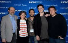 Variety's Jon Burlingame, ASCAP's Cia Toscanini, director John Krokidas, composer Nico Muhly and ASCAP's Jeff Jernigan