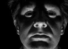 standerd flashlight under face. creepy, menacing. dont like it.