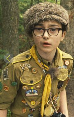 Jared Gilman as Sam in his Scout uniform. 'Moonrise Kingdom' (2012). Costume Designer: Kasia Walicka-Maimone