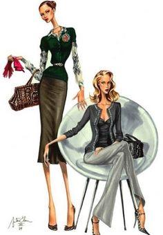 fashion illustration, elena arturo by junepinkerwinkle