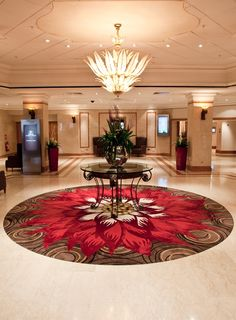 Hand tufted rug, custom made to order from pure New Zealand wool. Designed by Loomah Bespoke Carpets & Rugs for the entrance lobby of the Hilton Metropole in Birmingham. Hallway Carpet, Wall Carpet, Bedroom Carpet, Living Room Carpet, Rugs On Carpet, Carpets, Gray Carpet, Carpet Colors, Hallway Rug