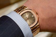 Patek Philippe - Nautilus, ref.5711R - Self-winding, cal.324 S C, 4Hz, 45hr p.r., date - 40mm, rose gold case, brown dial ~45k