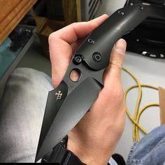 I'm thinking I'm going to have to get one of these !#Repost @borkablades with @repostapp. Dark Dark Stitch for Blade show #Stitch #BorkaBlades #DLC #DarkSideStitch #bladeshow2016 #knifemaking #workinprogress #usnstagram #usnfollow #borkanation #borkafamily #knife #knifeporb #madeinusa #madeinUSA #proudtobeanamerican by anthonymarfione