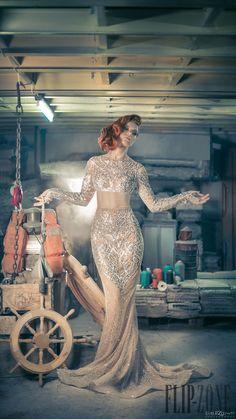 Charbel Zoe Automne-hiver 2014-2015 - Haute couture - http://fr.flip-zone.com/charbel-zoe-4849
