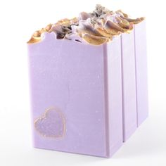 Two versions of Lavender soap - same ingredients, different designs.  I like the first one best, what do you think?