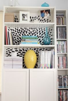 IKEA Hackers: Brightening up a boring Billy Bookcase with fabric backing