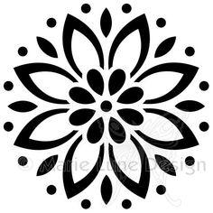 Little Flower - Magenta stamps & stencils - Art Stencil Patterns, Stencil Designs, Embroidery Patterns, Stencil Templates, Stencils, Stencil Art, Deco Stickers, Motif Floral, Pyrography