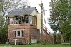 The original signal box still remains on the site, but has not been used for around 60 years. Norham, Northumberland.