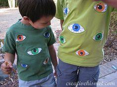 Eye see you shirt-reverse applique technique