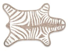 Grey Zebra Bath Mat
