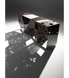 Buy online Riddled buffet By horm.it, aluminium and wood sideboard design Steven Holl, riddled Collection Steven Holl, Diy Design, Lamp Design, Urban Design, Buffet Design, Arch Model, Parametric Design, Concept Diagram, Sideboard Buffet