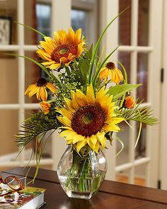 Order Silk Sunflower Vase Arrangements