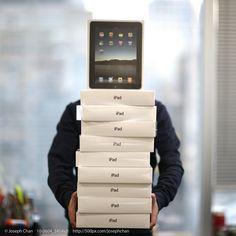 iPad - A virtual folder, nothing else needed.