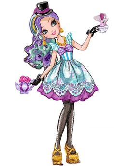 Madeline Hatter - Ever After High Wiki - Wikia Ever After High, Adventures In Wonderland, Alice In Wonderland, High Hat, Ever After Dolls, Fairy Coloring Pages, After High School, Raven Queen, Monster High Dolls