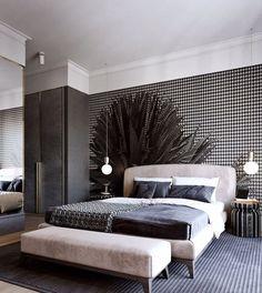 50 Phenomenal Modern Bedroom Ceiling Designs 2018 - Page 19 of 46 Master Bedroom Interior, Modern Bedroom Furniture, Small Room Bedroom, Bedroom Apartment, Bedroom Wall, Bedroom Decor, Bedroom Ideas, Bedroom Lighting, Design Bedroom