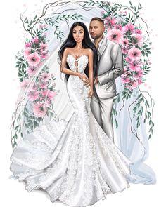 Wedding Illustration, Couple Illustration, Fashion Illustration Sketches, Fashion Sketchbook, Fashion Sketches, Wedding Prints, Wedding Art, Wedding Dress Sketches, Wedding Dresses