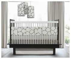 Oilo Cobblestone Standard Crib Set - Taupe - this is BEAUTIFUL bedding BUT... no bumpers for my baby!! Too dangerous! #DiaperscomNursery