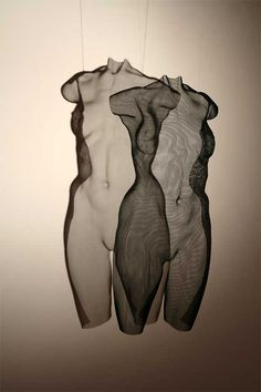 is David Begbie, 'IKON' Steelmesh female torso, suspended Figurative Sculpture, Art Blog, Wire Sculpture, Sculpture Art, Fine Art, Illustration Art, Visual Art, Art, Contemporary Art