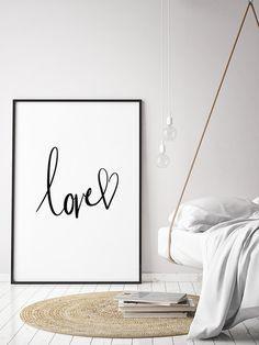 """Poster """"Love"""" Kunstdruck A4 - ein Designerstück von pureprints bei DaWanda"""