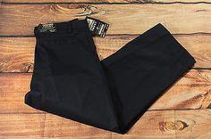 French Toast Boys Wrinkle No More Navy Blue Uniform Pants Size W34 Husky Pleated