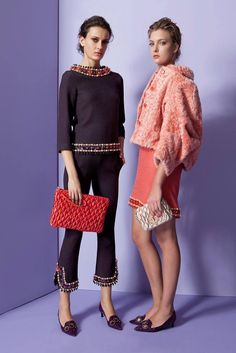 Moschino pre fall beauties. Loving the coral jacket.