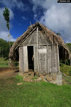 Old slaves 's house. Savane des esclaves, Martinique.