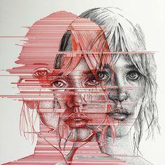 the work of pauljacksonlives hey A Level Art Sketchbook, Arte Sketchbook, Arte Inspo, Distortion Art, Art Alevel, Identity Art, Ap Art, Psychedelic Art, Art Portfolio