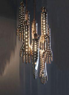 Voila Gallery's Multi-Hand Chandelier = Handelier