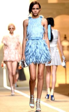 Baby Blue and feathers=