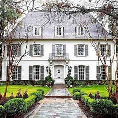 "317 Likes, 6 Comments - Jan J Mercado (@janjmercado) on Instagram: ""A classic ... #whitehouses #housesofinstgram #timlessstyle #classichouse #jeadore"""
