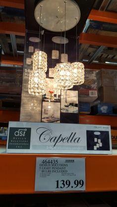 Costco crystal pendant lights