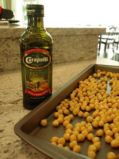 Roasted Garbanzo Beans - use olive oil and a healthy seasoning for maximum snackability!