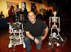 Me and Springy and Rocky and Skully at BarBots 2013 in SF.