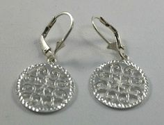 Fashion Jewelry Lace Filigree Sterling Silver Earrings with Lever backs -NEW #GianniDeloroJewelry #dangledrop#FreeShipping $26.59