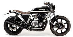 """Kawasaki Z1100 Brat Style """"Big Z"""" - Maccomotors es el primer trabajo de Jose y…"""