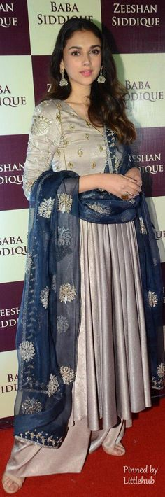 Pinterest: @Littlehub || คdamant love on Anarkali's ✿。。ღ || Aditi in payal singhal grey anarkali