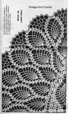 Set Of Two Vintage Filet Doilies Flower Basket Design White