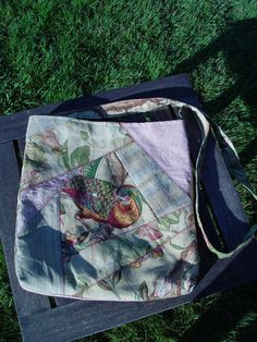 Scrap Quilted Tote Bag by JoanGraceDesigns on Etsy, $18.00