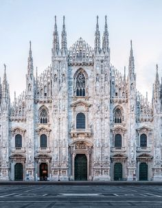 The Duomo of Milan, Milan (I want to go to Milan! I was once the Duke of Milan. Beautiful Architecture, Beautiful Buildings, Beautiful Places, Italy Architecture, Fashion Architecture, Milan Cathedral, Cathedral Church, Oh The Places You'll Go, Places To Travel