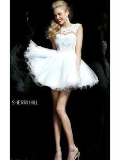 2014 White Short Prom Dress By Sherri Hill 21217
