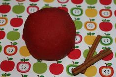 """Apple pie scented playdough. Bringing this into preschool in September because I'm """"Playdough Mom"""" for the month"""