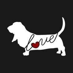 Basset Hound Love Window Vinyl Car Sticker Decal for Dog Lovers (Ships Free)