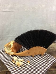 Sold out already, but isn't it fun?! Hedgehog Table Brush   Atomic Garden