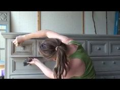 Annie Sloan - Chalk Paint® tutorial No.1 - one-colour distressing technique with dark wax. - YouTube