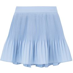 Crystal Pleated Mini Skort featuring polyvore, women's fashion, clothing, skirts, mini skirts, bottoms, faldas, blue skirts, flare skirt, blue mini skirt, mini flare skirt and elastic waist skirt